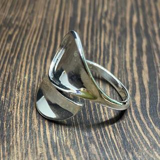 スプーンリング 逆甲丸 シルバー925リング スターリング 銀指輪 シンプル(リング(指輪))