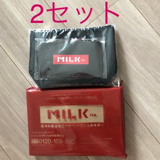 MILKFED. - MILK FED.ポーチ&カードケース&保冷&保温機能付き ペットボトルホルダー