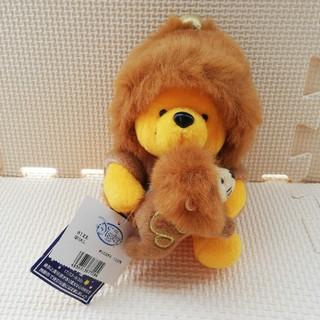クマノプーサン(くまのプーさん)のくまのプーさん 獅子座 ぬいぐるみ ディズニーストアー タグ付き(キャラクターグッズ)