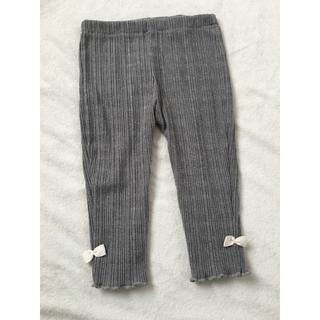 シマムラ(しまむら)のリブレギンス 9分たけ ズボン パンツ リボン付き 80サイズ(パンツ)