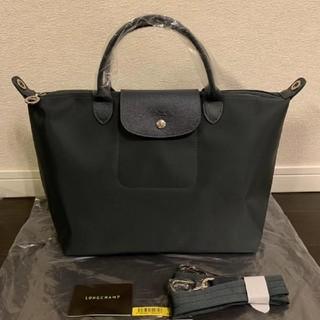 LONGCHAMP - ロンシャン ネオ 新品 ダークグレー M ハンドバッグ