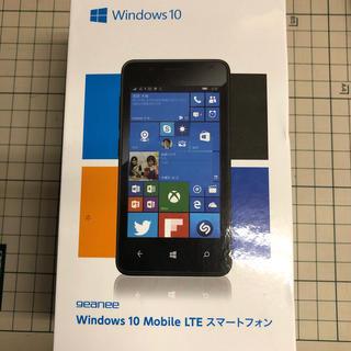 geanee windows phone WPJ40-10-BK(スマートフォン本体)