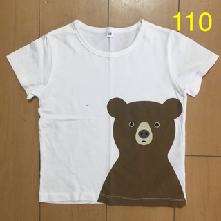 MUJI (無印良品) - インド綿天竺編みプリントTシャツ 110