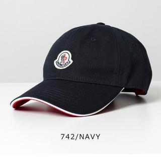 MONCLER - 新品 今期 モンクレール 帽子 キャップ ネイビー