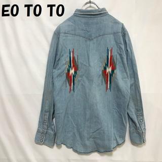 エオトト(EOTOTO)のEO TO TO/エオトト ウエスタンシャツ インディアン サイズL 08AW(シャツ)