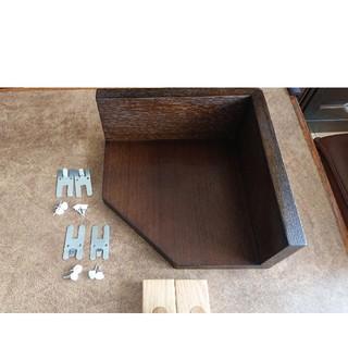 ムジルシリョウヒン(MUJI (無印良品))の無印良品☆壁につけられるコーナー&フック2個(棚/ラック/タンス)