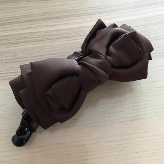 リボン バナナクリップ レディースのヘアアクセサリー(バレッタ/ヘアクリップ)の商品写真