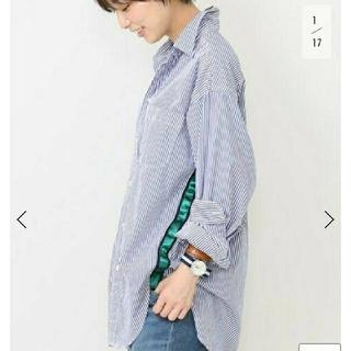 DEUXIEME CLASSE - AMERICANA テープツキ 1ポケシャツ(ホソストライプ)
