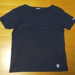 オーシバル(ORCIVAL)のORCIVAL オーチバル ボードネックTシャツ ネイビー サイズ3(Tシャツ/カットソー(七分/長袖))