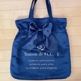 Maison de FLEUR - リボン トートバッグ