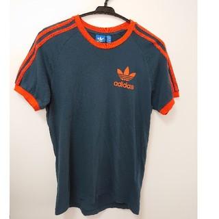 アディダス(adidas)のadidasoriginals グリーン×オレンジ 3本ライン Tシャツ(Tシャツ/カットソー(半袖/袖なし))