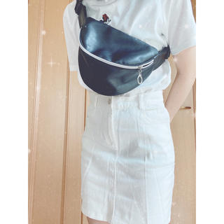 GRL - ホワイト デニム 膝丈スカート