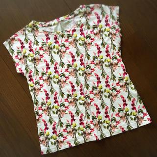 エピス(EPICE)の【送料込み】ユニクロ×episudesign 花柄Tシャツ/130cm(Tシャツ/カットソー)