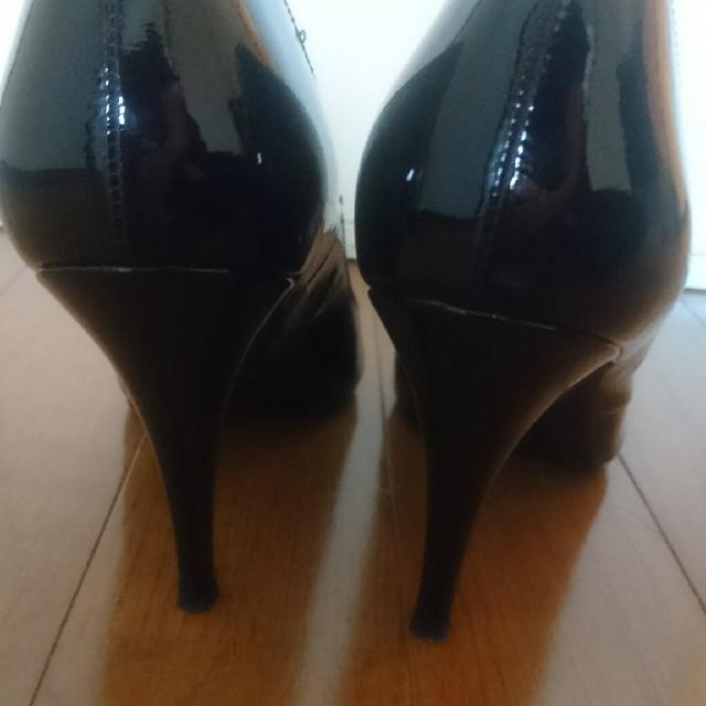 DIANA(ダイアナ)のDIANA Romanche エナメルパンプス ブラック レディースの靴/シューズ(ハイヒール/パンプス)の商品写真