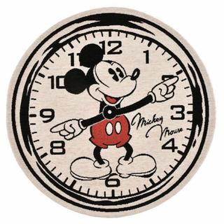 ディズニー(Disney)の<新品>ミッキー ラウンドマット 丸眞(ラグ)