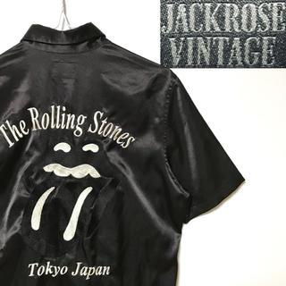 JACKROSE - 未使用!ローリングストーンズ×ジャックローズ限定コラボリップス&タン スカシャツ
