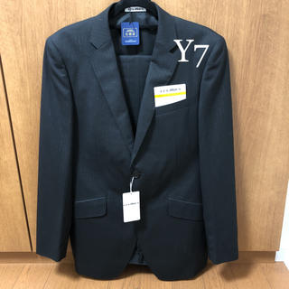 アオキ(AOKI)の【新品未使用タグ付】アオキ LESMUES ウール混 スーツ Y7 ブラック 黒(セットアップ)