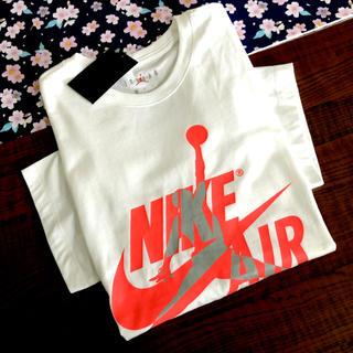 ナイキ(NIKE)のナイキ ジョーダン Tシャツ 半袖 海外限定 メンズ◆ジャンプマン  新品  白(Tシャツ/カットソー(半袖/袖なし))