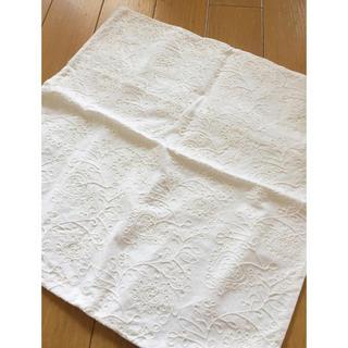 MUJI (無印良品) - 新品未使用【無印 クッションカバー】MUJI ホワイト 白 オフホワイト