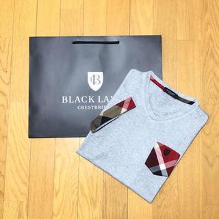バーバリー(BURBERRY)の一回着用【日本製】ブラックレーベルクレストブリッジ 半袖TシャツM (Tシャツ/カットソー(半袖/袖なし))