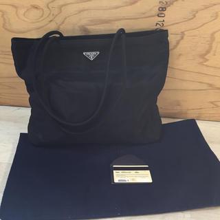プラダ(PRADA)のPRADA トートバッグ ギャランティカード付き ブラック(トートバッグ)