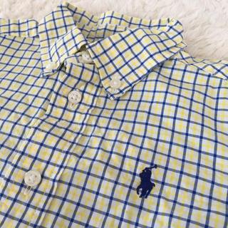ラルフローレン(Ralph Lauren)の美品☆ラルフローレン 長袖シャツ Polo ベビー キッズ チェック 18M♪(ブラウス)