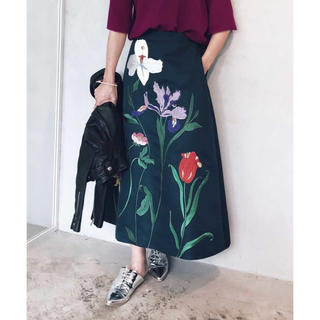 Ameri VINTAGE - ameri アメリ フラワー 花柄 刺繍 スカート