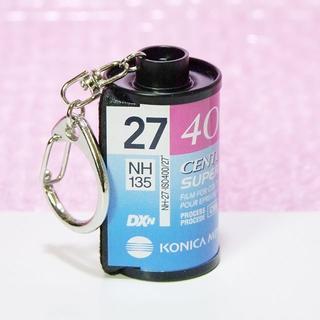 コニカミノルタ(KONICA MINOLTA)の☆パトローネキーホルダーCENTURIA SUPER 27 ISO400(フィルムカメラ)