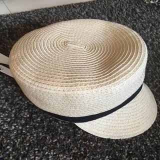 ジーユー(GU)のgu 麦わらキャスケット(帽子)