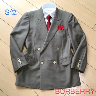 BURBERRY - バーバリー×モヘア混サマーウール高級カーキグレーダブルジャケットブレザーA494