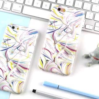 iPhone6 iPhone6s 絵具 タッチ 綺麗な マーブル柄 ケース(iPhoneケース)