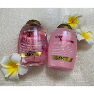 Moroccan oil - ogx cherry blossom シャンプーリンスセット