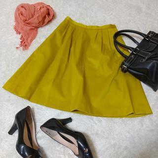 Stola. - 【美品】ストラ ひざ丈スカート 38サイズ Mサイズ イエロー 黄色 日本製