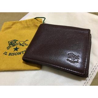 イルビゾンテ(IL BISONTE)のイルビゾンテ 正規品 イタリアンレザー 二つ折り財布 ダークブラウン こげ茶(折り財布)