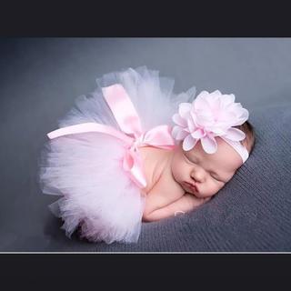 ピンク チュチュスカート ニューボーンフォト 新生児