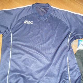 アシックス(asics)のアシックスサイズL 紺色Tシャツワンポイント刺繡(Tシャツ(半袖/袖なし))