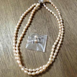ミツコシ(三越)の淡水パールネックレス&イヤリング(ネックレス)
