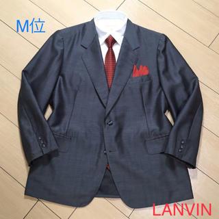 LANVIN - 美品★ランバン×銀座テーラー グレーストライプ織りテーラードジャケットA521