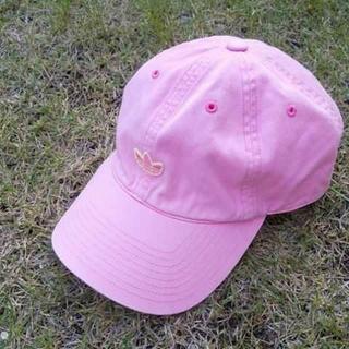 アディダス(adidas)のアディダス adidas キャップ ピンク かわいい  刺繍ロゴ(キャップ)