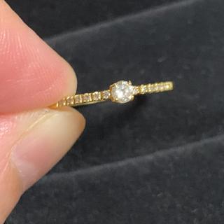 agete - K18 ダイヤモンド ハーフエタニティリング