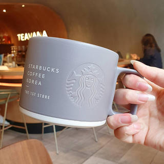 Starbucks Coffee - (海外)★韓国スタバ★韓国スターバックス第一店舗限定★スタバ1号店スクエアマグ★