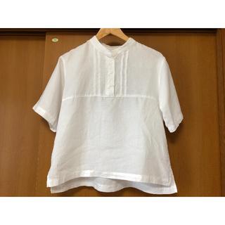 coen - coen リネンシャツ 白