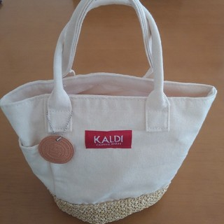 カルディ(KALDI)のKALDI 帆布ミニトートバッグ ランチバック カルディ(弁当用品)