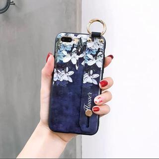 【ネイビー】フラワー ベルト iPhoneケース(iPhoneケース)