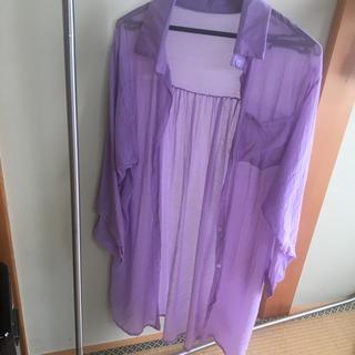 GRL - グレイル シアーシャツ パープル