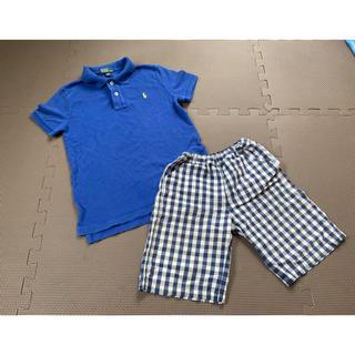 ムジルシリョウヒン(MUJI (無印良品))の120ラルフローレンポロシャツ 無印良品ハーフパンツのセット(パンツ/スパッツ)