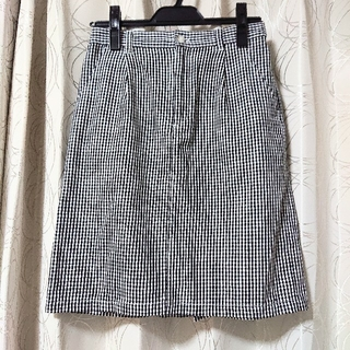 エヘカソポ(ehka sopo)のギンガムチェック 台形スカート(ひざ丈スカート)