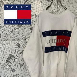 トミーヒルフィガー(TOMMY HILFIGER)のトミーヒルフィガー スウェット トレーナー ビッグロゴ ビッグサイズ XL(スウェット)