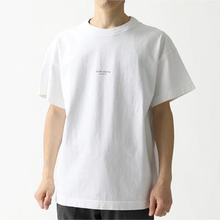 アクネ(ACNE)のAcne studios jaxonリバースロゴTシャツ オプティックホワイト(Tシャツ/カットソー(半袖/袖なし))