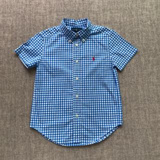 ラルフローレン(Ralph Lauren)のラルフローレン☆ブルーギンガムチェック半袖シャツ130(ブラウス)